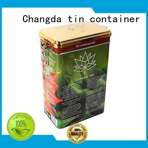 Changda oem&odm tea tin can durable for bar