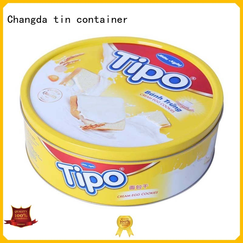 Changda best quality cookie can from top supplier