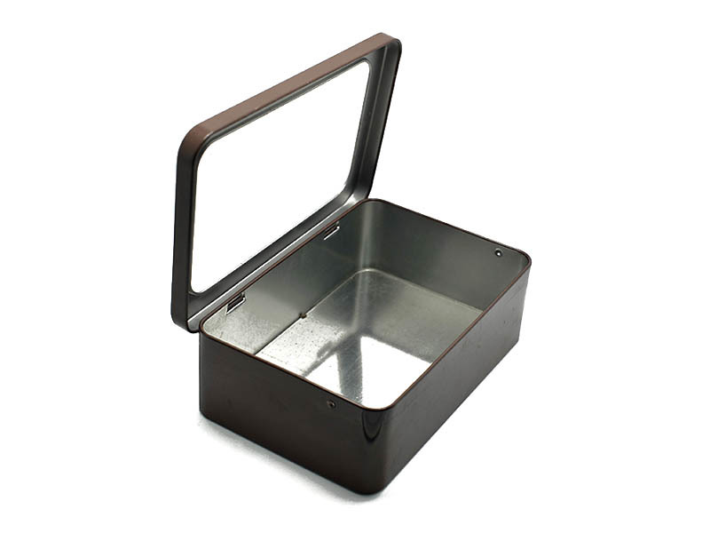 lip with hinge metal tins with lids