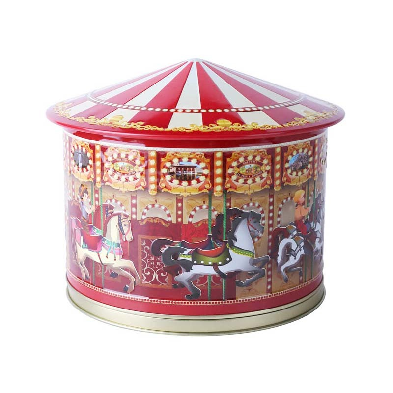 latest merry-go-round music gift tin boxes for wholesale