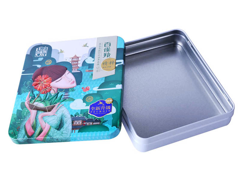 high-quality frosted tinplate box