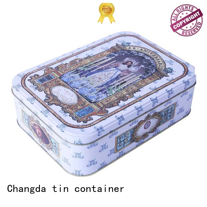 gift tin boxes factory supply for wholesale Changda