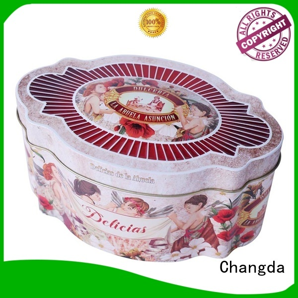 Changda empty cookie tins factory price free sample