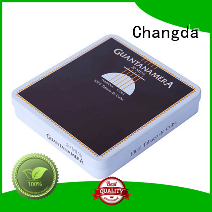 Changda cigarette tin for gift packing