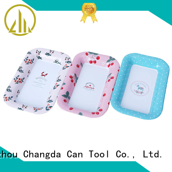 Changda food grade vintage metal trays high quality for wholesale