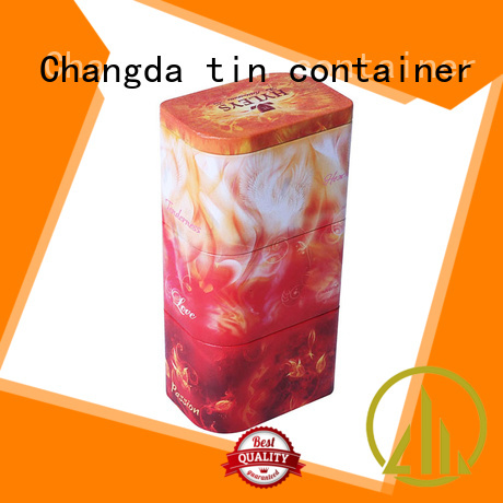 Changda coffee tin box light weight free sample