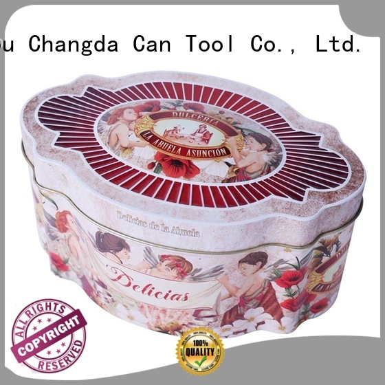 Changda hot-sale empty cookie tins free sample
