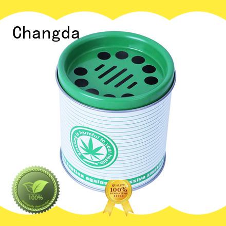 Changda food grade metal ashtray for packing