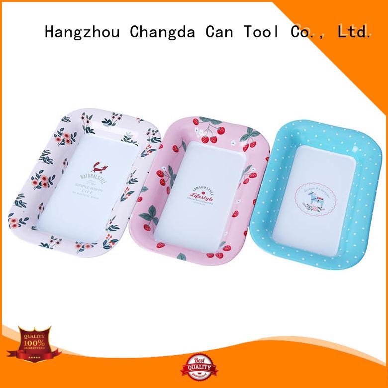 Changda food grade metal serving tray for bar