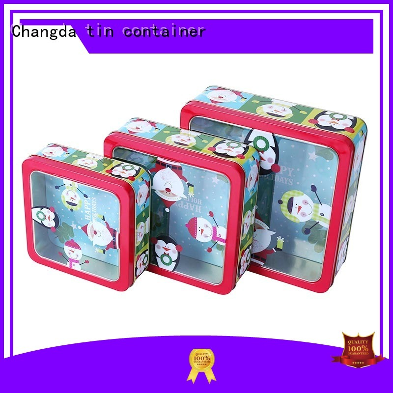 Changda popular tin box set light weight for gift