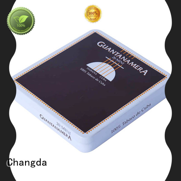 Changda cigarette tin box professional manufacturer for gift packing