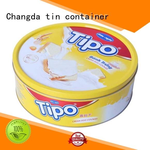 Changda wholesale cookie tins free sample