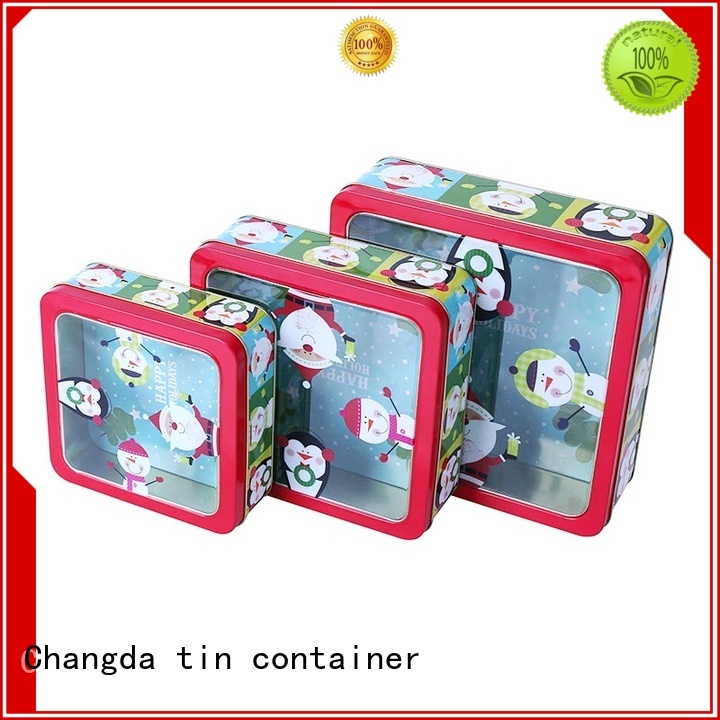tin box set light weight for gift