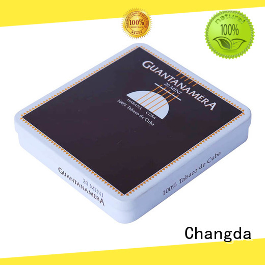 Changda wholesale cigarette tin box fast delivery for gift packing