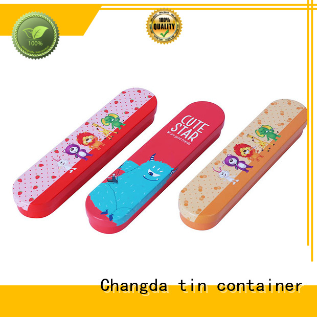 Changda best selling stationery tin box factory supply