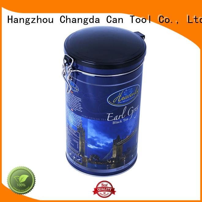 Changda coffee tin box beautiful design for gift