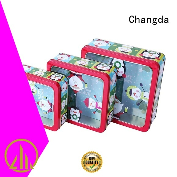 tin box set beautiful design for gift Changda