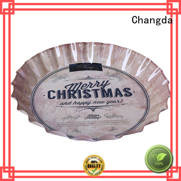 vintage metal serving trays high quality for wholesale Changda