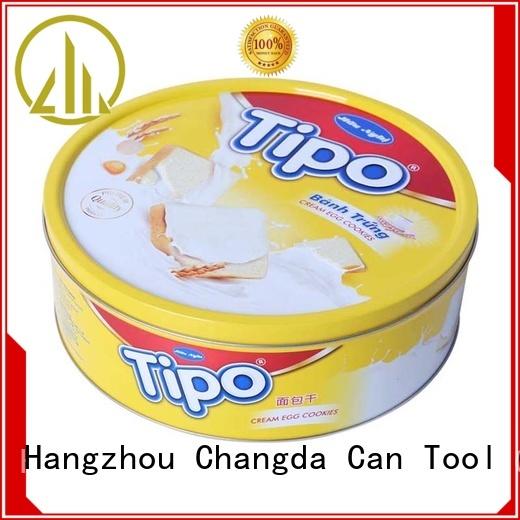 Changda wholesale cookie tins food grade free sample
