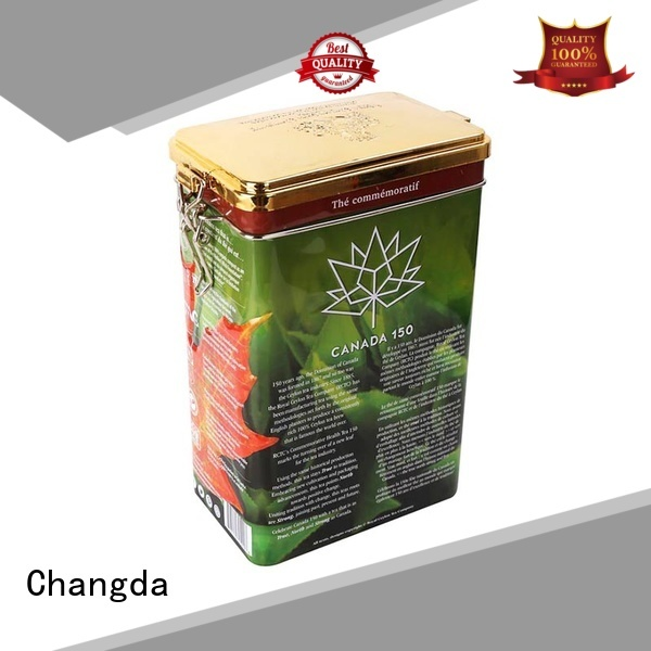 Changda tea tin can durable for bar