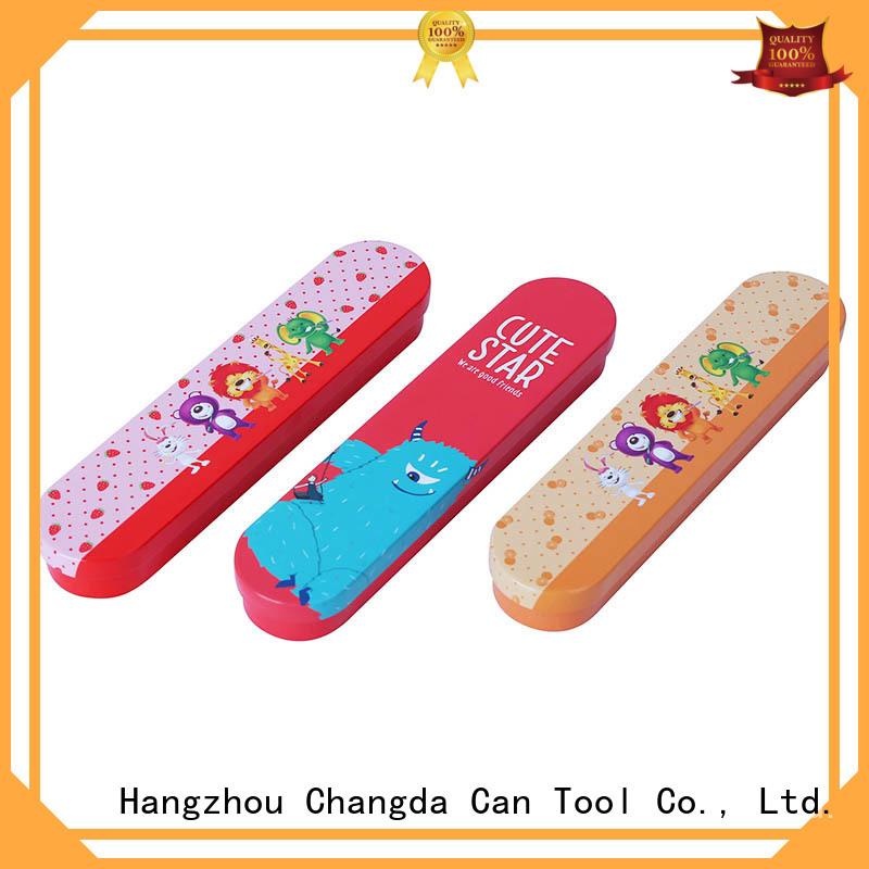 Changda stationery tin box custom factory supply