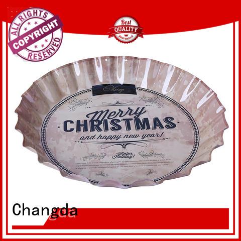 Changda food grade vintage metal trays high quality for bar