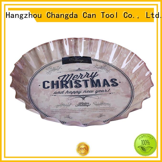 Changda food grade vintage metal trays for wholesale