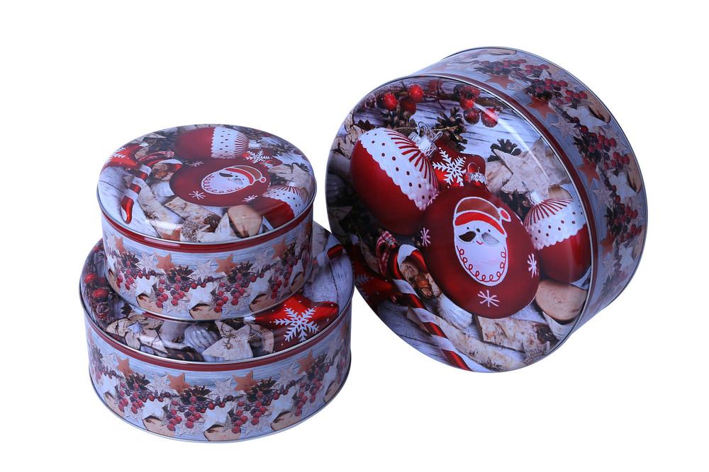 hot sell free sample  round shape tin box  set