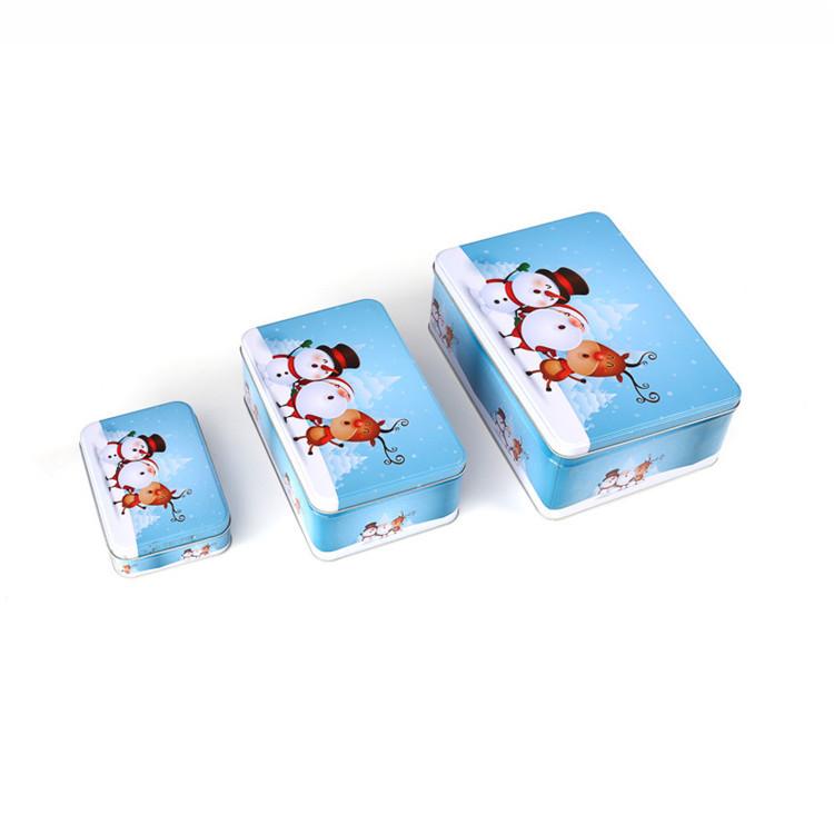 Christmas design rectangular tin box set