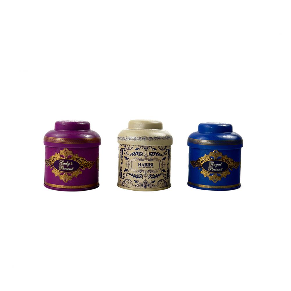 Small round tea tin with gift box