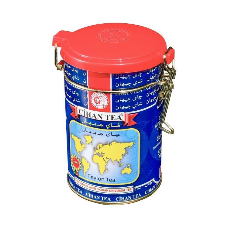 Round shape tea tin box with lock
