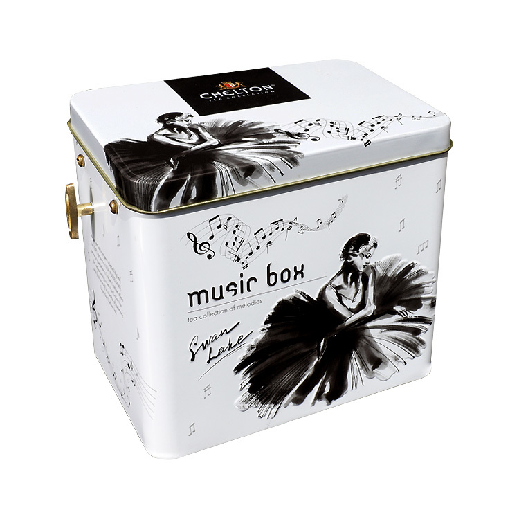 christmas packing tin boxes musical tin box