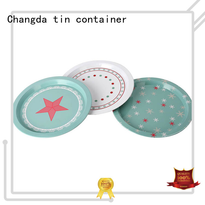 Changda metal serving tray factory supply for restuarant