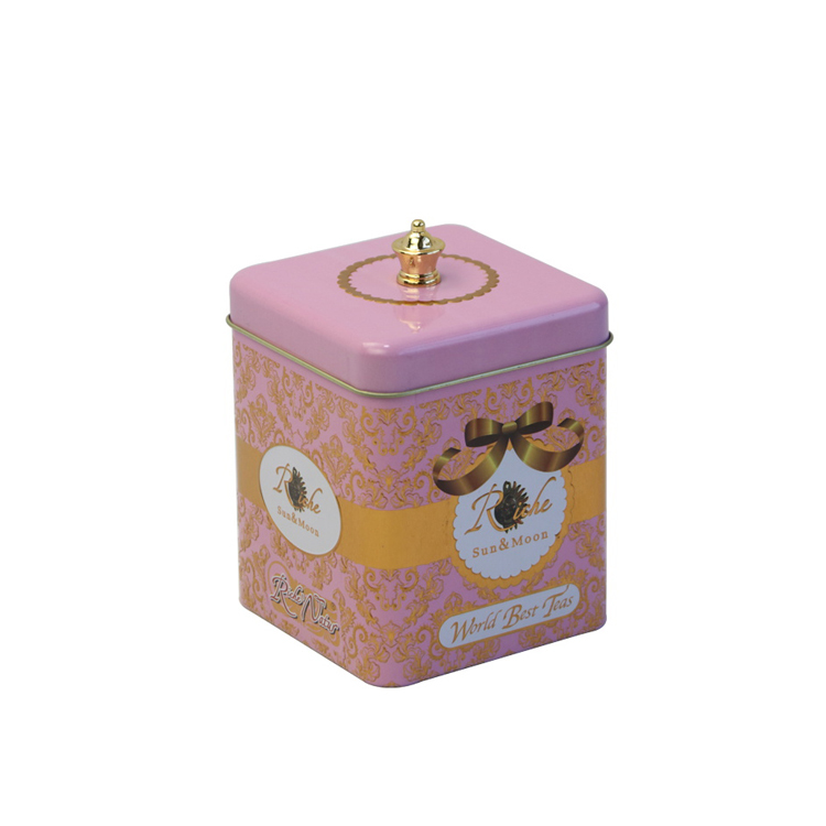 Special design tea tin box wiht two size