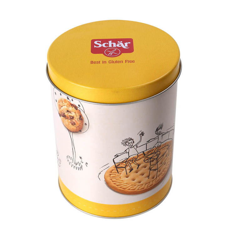 Round cookie tin box with customized design and logo