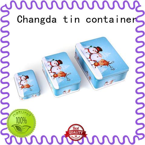Changda tin box set beautiful design free sample